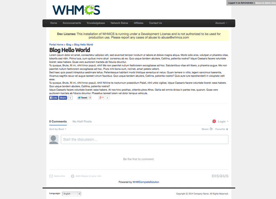 WHMCS CMS Plus | View Content