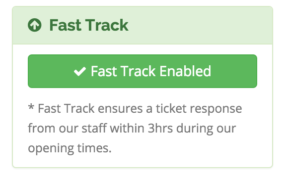 WHMCS Support Extended | Fast Track Enabled